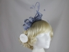 Hawkins Collection Quill and Loops Fascinator in Light Blue