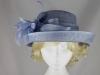 Hawkins Collection Upbrim Wedding Hat in Light Blue