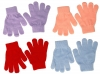 Magic Set of Four Childrens Stretchy Gloves in Light Colours