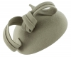 Failsworth Millinery Wool Felt Pillbox Headpiece in Light Grey