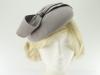 Failsworth Millinery Wool Felt Pillbox in Light Grey
