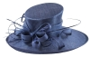 Elegance Collection Ascot Hat in Light Navy