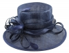 Elegance Collection Sinamay Loops Wedding Hat in Light Navy