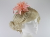 Aurora Collection Flower Fascinator in Light Pink