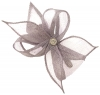 Elegance Collection Diamante Clip Fascinator in Lilac