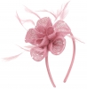 Elegance Collection Diamante Flower Fascinator in Lilac