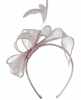 Elegance Collection Sinamay Loops and Feathers Fascinator in Lilac