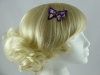 Embroidered Butterfly Clip in Lilac