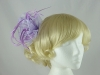 Fascinator with Curled Fabric and Biots in Lilac