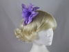Flower with Biots Fascinator in Lilac