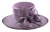 Hawkins Collection Flower Ascot Hat in Lilac