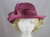 Leaves and Loops Wedding Hat in Dark Pink