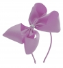 Molly and Rose Aliceband Diamante Hair Bow in Lilac
