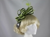 Failsworth Millinery Two Tone Loops Headpiece in Lime & Black