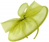Failsworth Millinery Sinamay Disc in Lime