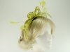 Failsworth Millinery Sinamay Fascinator in Lime