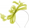 Failsworth Millinery Sinamay Loops Fascinator in Lime