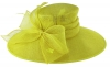 Failsworth Millinery Wide Brimmed Events Hat in Lime