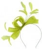 Failsworth Millinery Wide Loops Fascinator in Lime