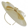 Failsworth Millinery Bow Disc in Linen