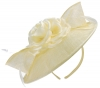 Failsworth Millinery Silk Rose Disc Headpiece in Linen