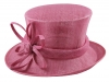 Elegance Collection Sinamay Flower Occasion Hat in Lipstick
