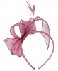 Elegance Collection Sinamay Loops and Feathers Fascinator in Lipstick