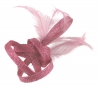 Elegance Collection Small Loops Clip Fascinator in Lipstick