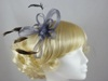 Fascinator with Loops and Feathers in Silver