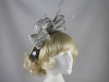 Failsworth Millinery Two Tone Loops Headpiece in Lunar & Steel