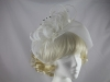Maddox White Veiled Headpiece