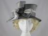 Maddox Zinc and White Wedding Hat
