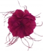 Failsworth Millinery Feather Fascinator in Magenta