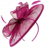 Failsworth Millinery Sinamay Disc Headpiece in Magenta