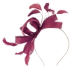 Failsworth Millinery Wide Loops Fascinator in Magenta