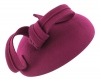 Failsworth Millinery Wool Felt Pillbox Headpiece in Magenta