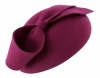 Failsworth Millinery Wool Felt Pillbox in Magenta