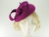 Failsworth Millinery Wool Felt Pillbox Headpiece in Magenta