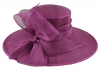 Failsworth Millinery Ascot Hat in Malbec