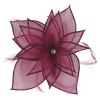 Failsworth Millinery Diamante Organza Fascinator in Malbec