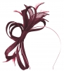 Failsworth Millinery Fascinator with Diamantes in Malbec