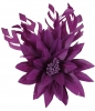 Failsworth Millinery Feather Flower Fascinator in Malbec