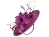 Failsworth Millinery Shaped Disc in Malbec