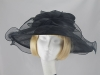 Marks and Spencer Black Collapsible Wedding Hat