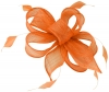 Hawkins Collection Sinamay Fascinator in Marmalade