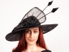 Matthew Eluwande Millinery Gabby in Black
