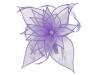 Failsworth Millinery Diamante Organza Fascinator in Mauve