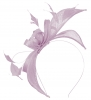 Failsworth Millinery Sinamay Fascinator in Mauve