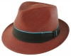 Failsworth Millinery Trilby Panama Hat in Merlot