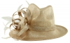 Elegance Collection Stetson Occasion Hat in Metallic Nude